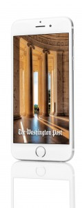 The Washington Post on a smartphone.