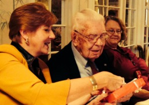 Walter Pulliam during his 100th birthday party last year.