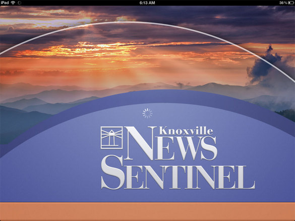 Thumbnail image for News Sentinel iPad app