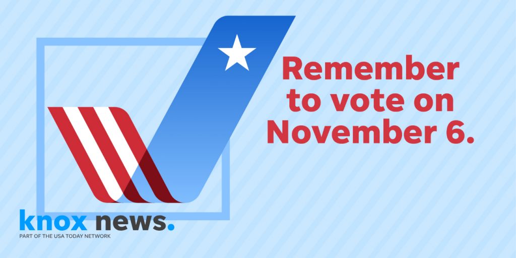 Remember to vote on Nov. 6, 2018.